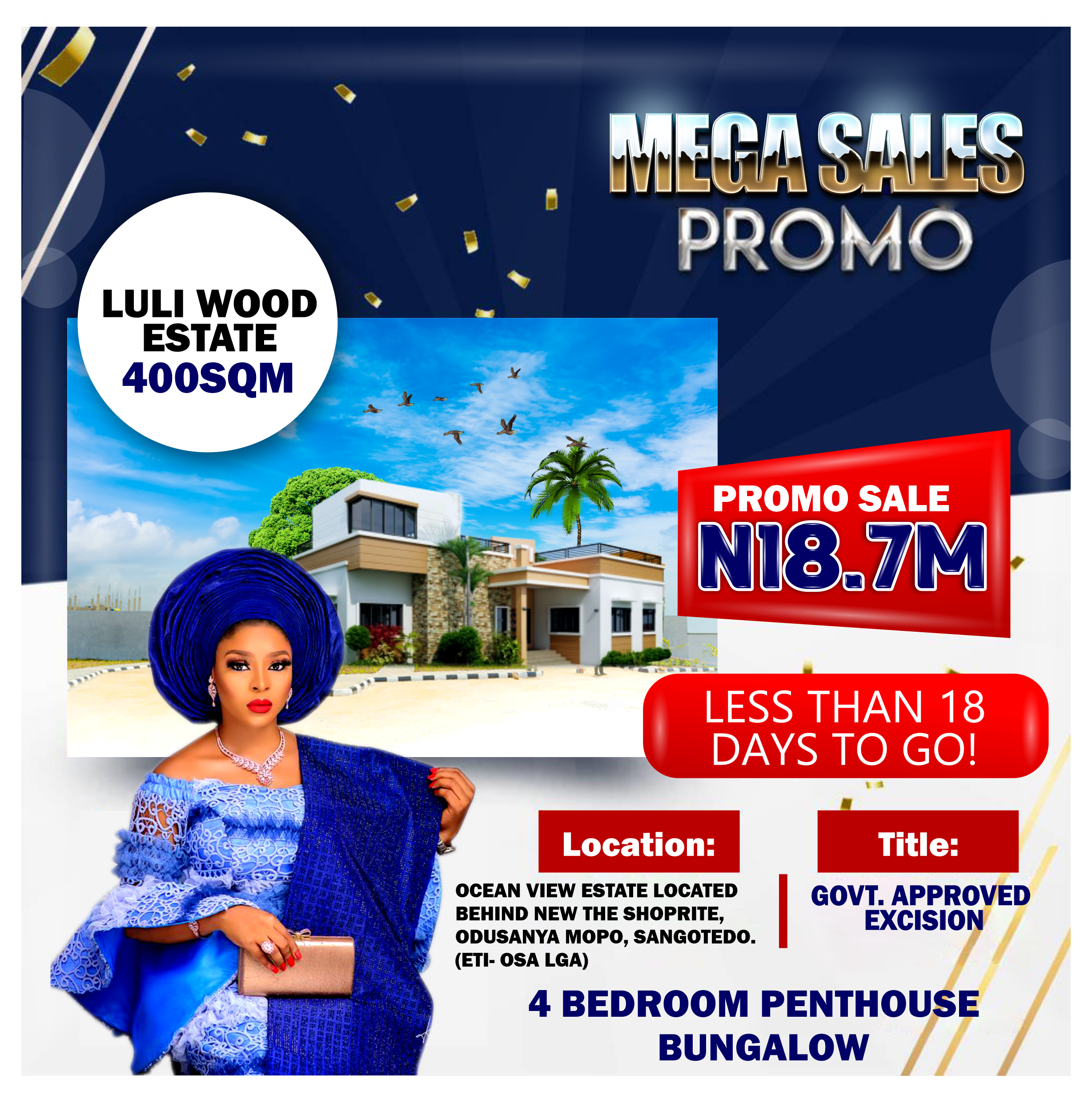 LESS THAN 18 DAYS TO GO 4 BEDROOM