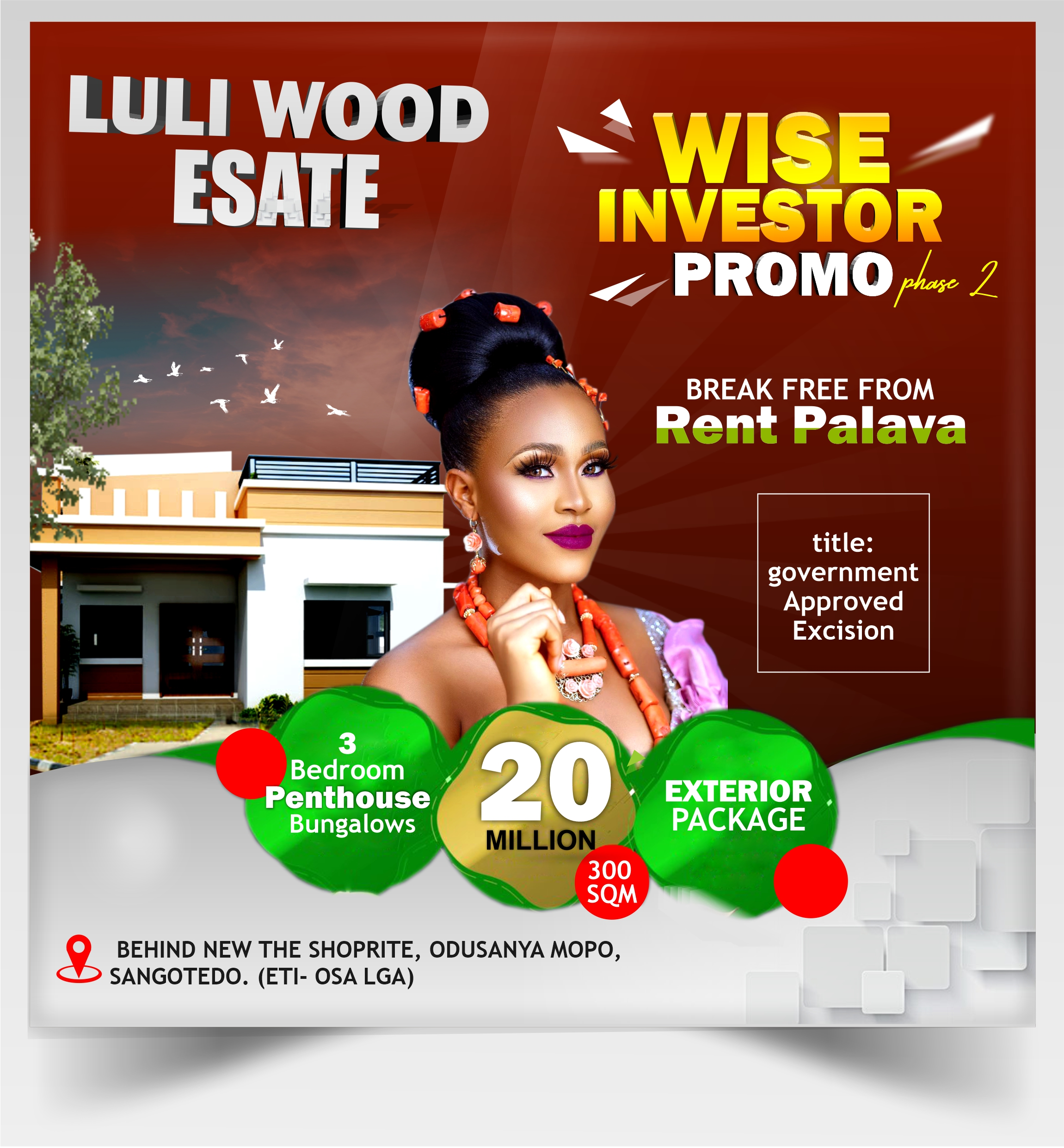 WISE INVESTOR PROMO PHASE 3 BEDROOM PENTHOUSE BUNGALOW EXTERIOR WEBSITE